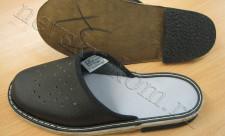 пантолеты на кожаной подошве с каблуком из пористой резины