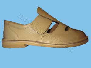 сандалии на липучке бежевые
